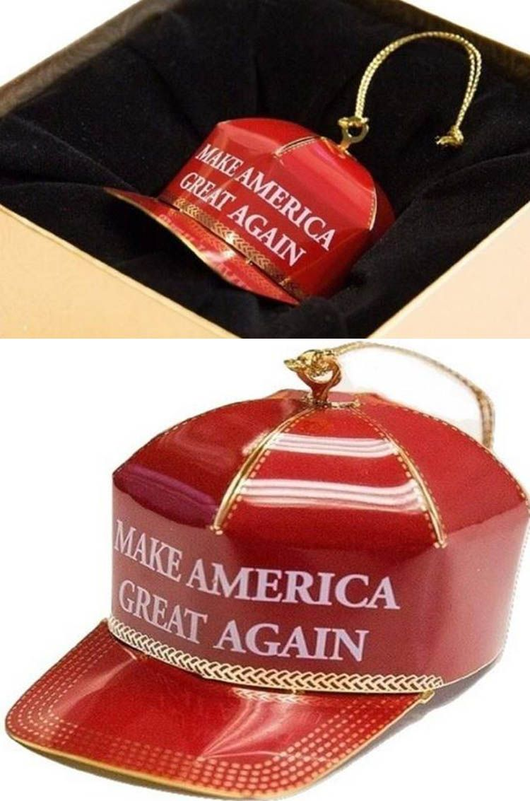the make america great again christmas ornament is getting hilarious reviews on amazon