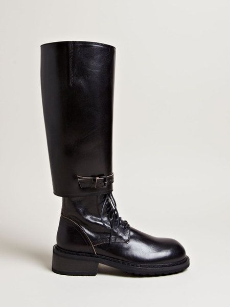adbe16dd099 ANN DEMEULEMEESTER Black Womens Tamponato Boots - Lyst