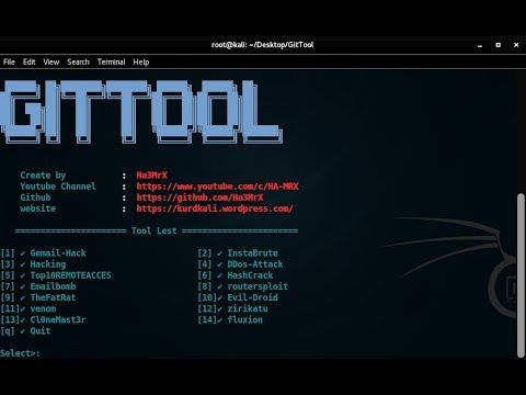 Git Best Tools Hacking gmail ddos & more tools For Kali Linux 2018