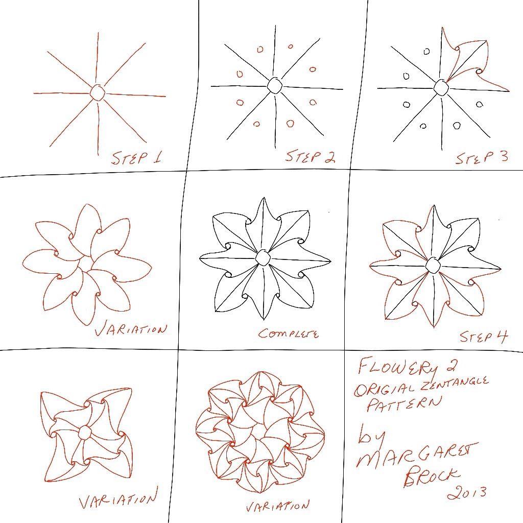 Original Zentangle Pattern Drawn On Ipad In Procreate App