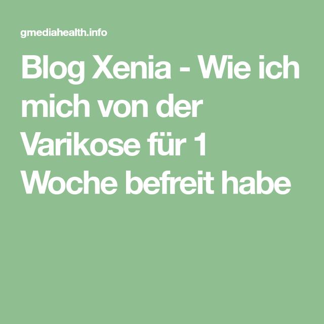 Blog Xenia - Wie ich mich von der Varikose für 1 Woche
