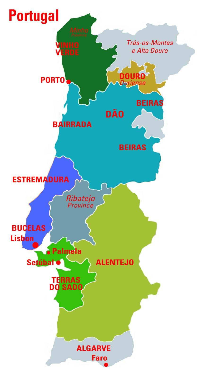 Portugalmapconnoisseurwinesjpg Useful Wine Info - Portugal map regions