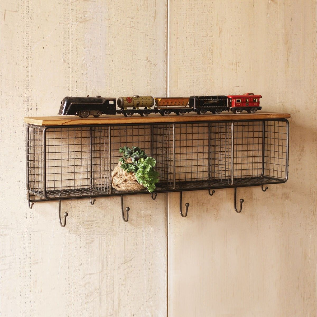 Make A Statement Right In Your Entryway With This Storage System. The Wire  Cubbies And