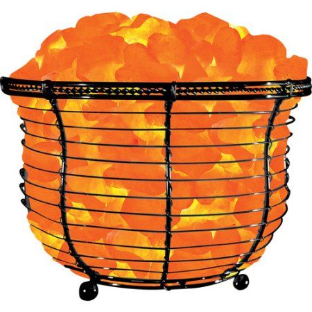 Salt Lamp Walmart Glamorous Himalayan Ionic Natural Salt Basket Lamp Tall Walmart  Healing