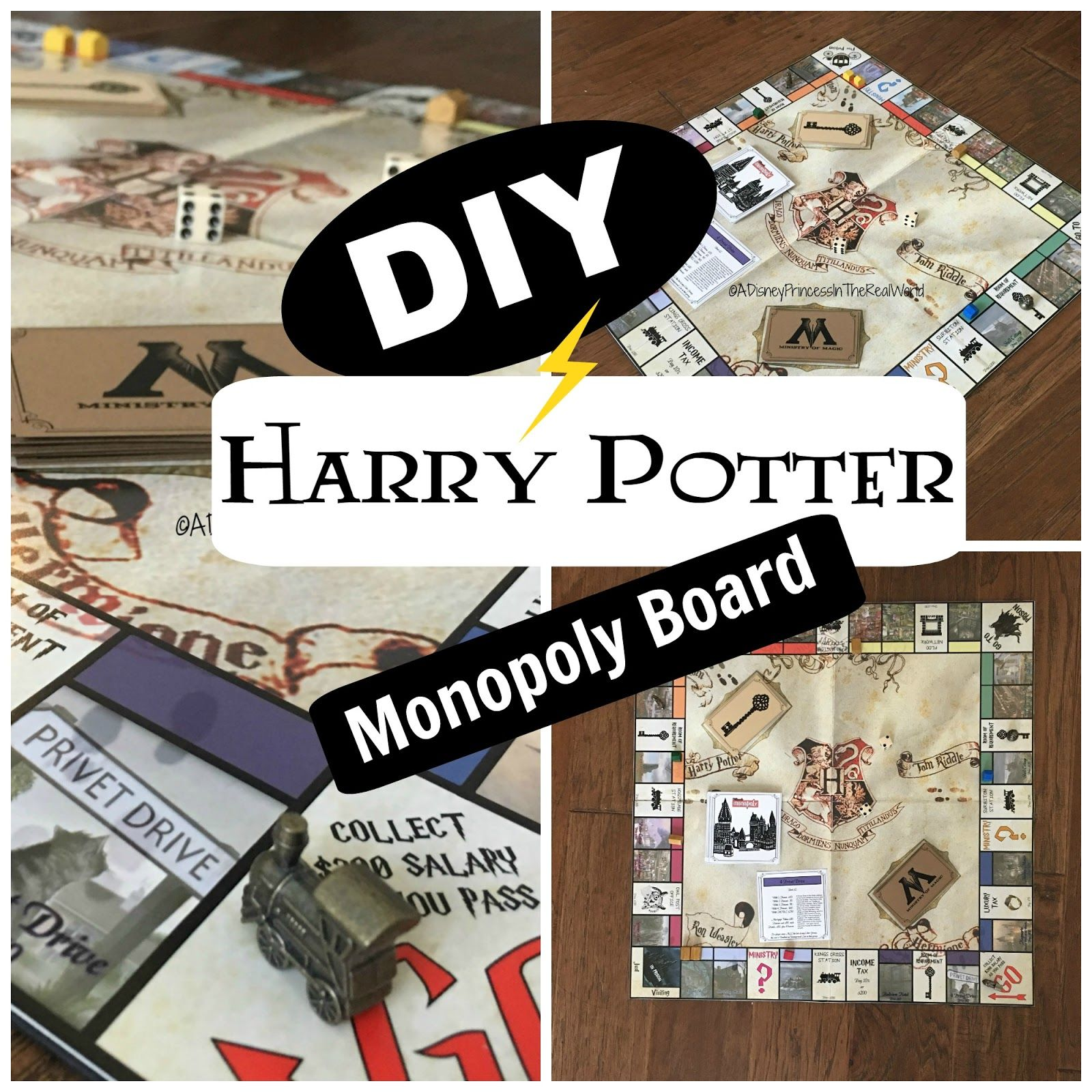 A Disney Princess in the real world DIY Harry Potter Monopoly board