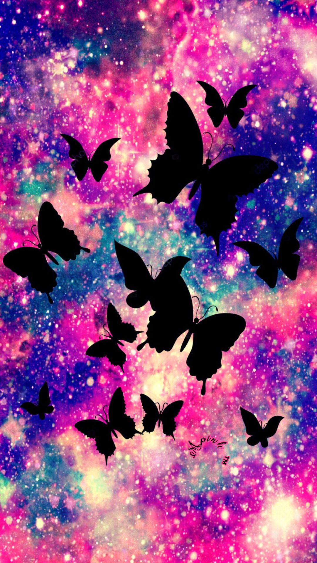 Majestic Butterflies Galaxy Wallpaper #androidwallpaper # ...