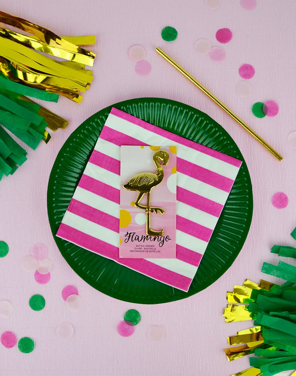 Gold Flamingo bottle opener party favor | Gifting favors is a simple ...