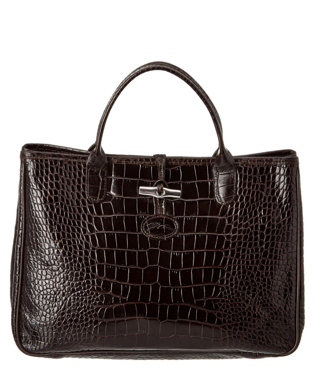 b62eb6a0b74 LONGCHAMP Longchamp Roseau Croco Embossed Leather Tote'. #longchamp #bags # leather #hand bags #tote #lining #