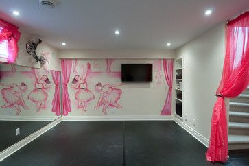 Dance Studio Design Ideas, Wall Mural and TV | DIY Home Dance ...