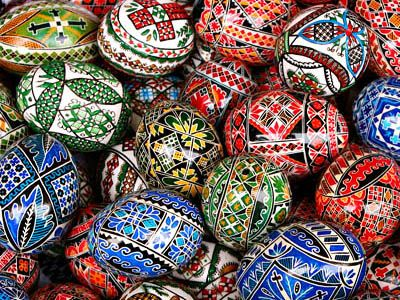 Intricatecolorful traditional romanian easter eggs bright intricatecolorful traditional romanian easter eggs negle Choice Image