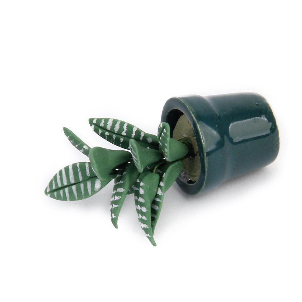 1/12 green bowl plant Dollhouse miniature garden accessory