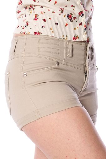 Twill Shorts - Taupe at Lucky 21 Lucky 21
