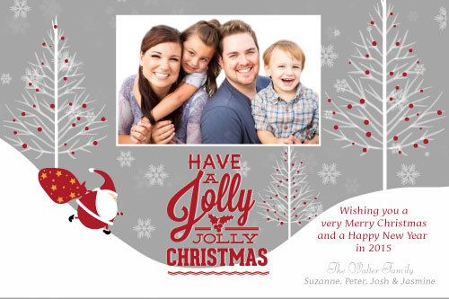 Jolly Christmas Custom Christmas Cards Holiday Photo Greeting Cards Christmas Card Online