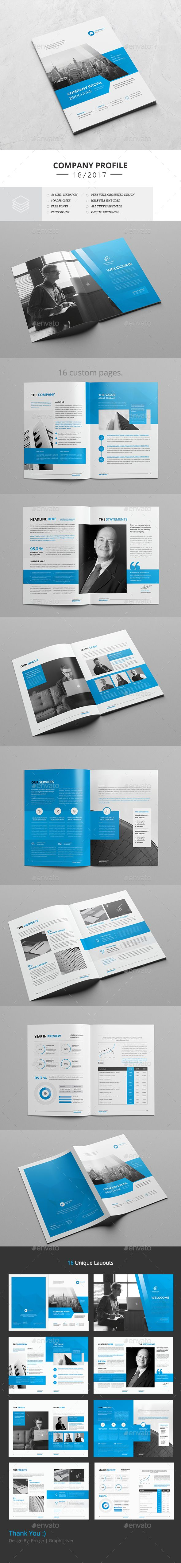 Corporate Brochure Template InDesign INDD - 16 Pages | Brochure ...