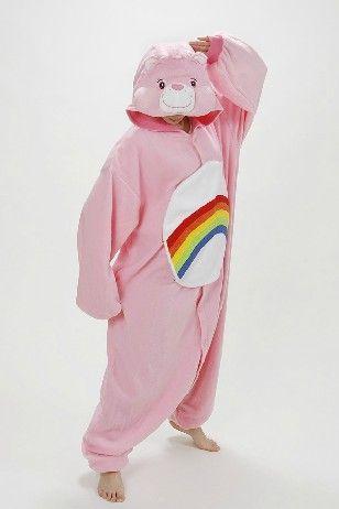 Rainbow Care Bear Onesie Party Costume #carebearcostume Rainbow Care Bear Onesie Party Costume #carebearcostume