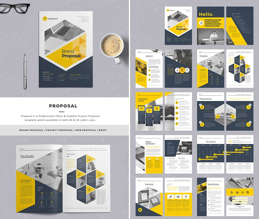 Stylish Business Project Proposal Templates  Proposal Bisnis