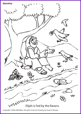 Elijah And Ravens What S Missing Kids Korner Biblewise Sunday School Coloring Pages Elijah And The Widow Bible School Crafts