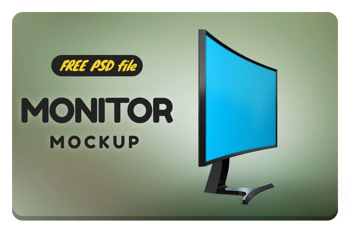 Curved Monitor Mockup Free Pixelmockup Com Mockup Curves Free
