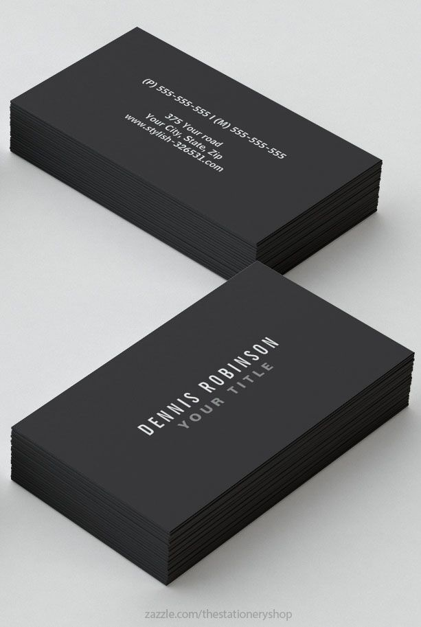 A dark gray, masculine, generic business card. Bold, minimal and ...