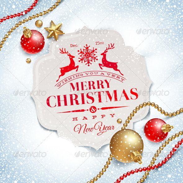 Christmas greetings card and decor on snow christmas greeting christmas greetings card and decor on snow m4hsunfo
