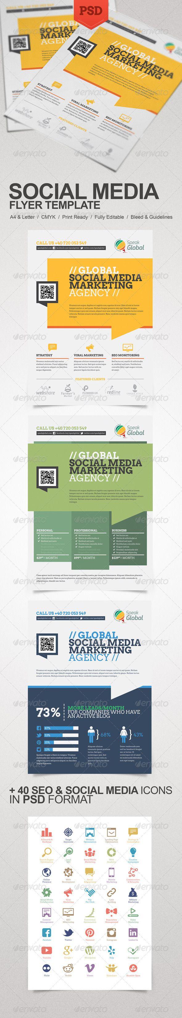 social media marketing flyer creative flyers to work and social social media marketing flyer