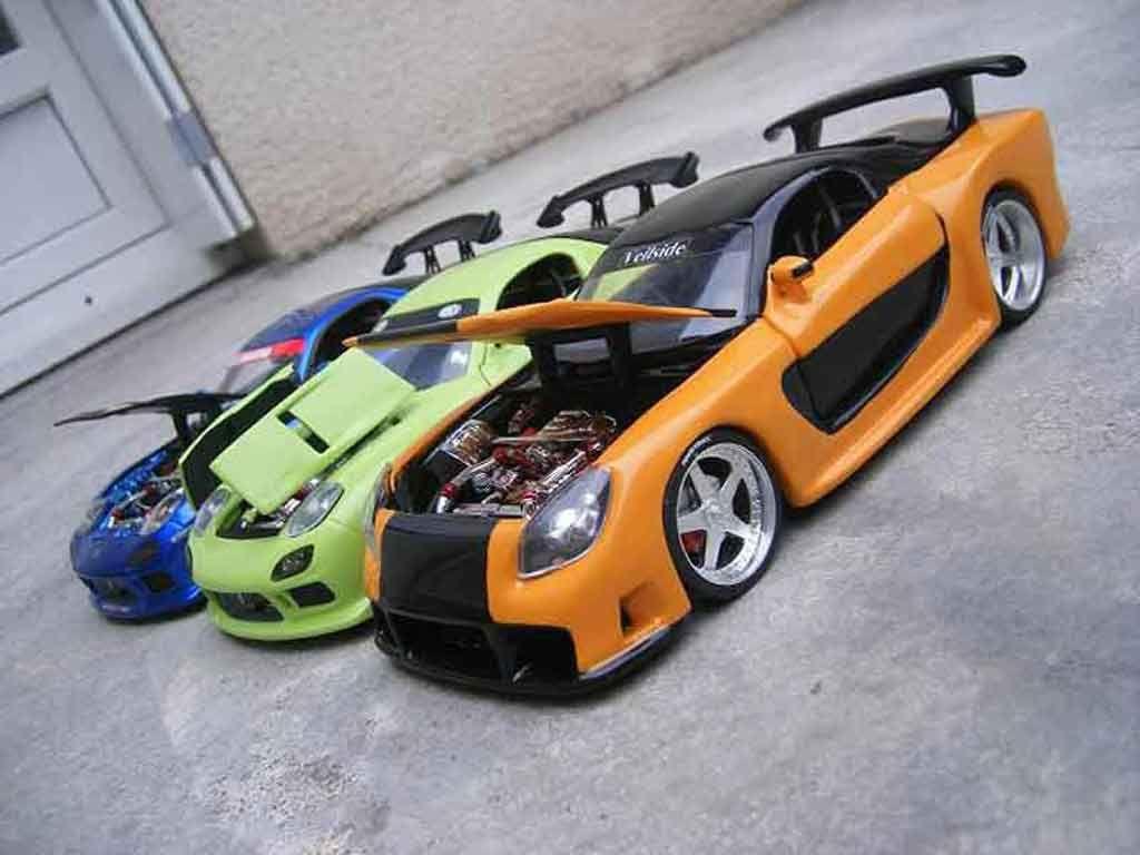 Jada car toys  Mazda RX kit veilside fast and furious  Jada Toys  scale cars and