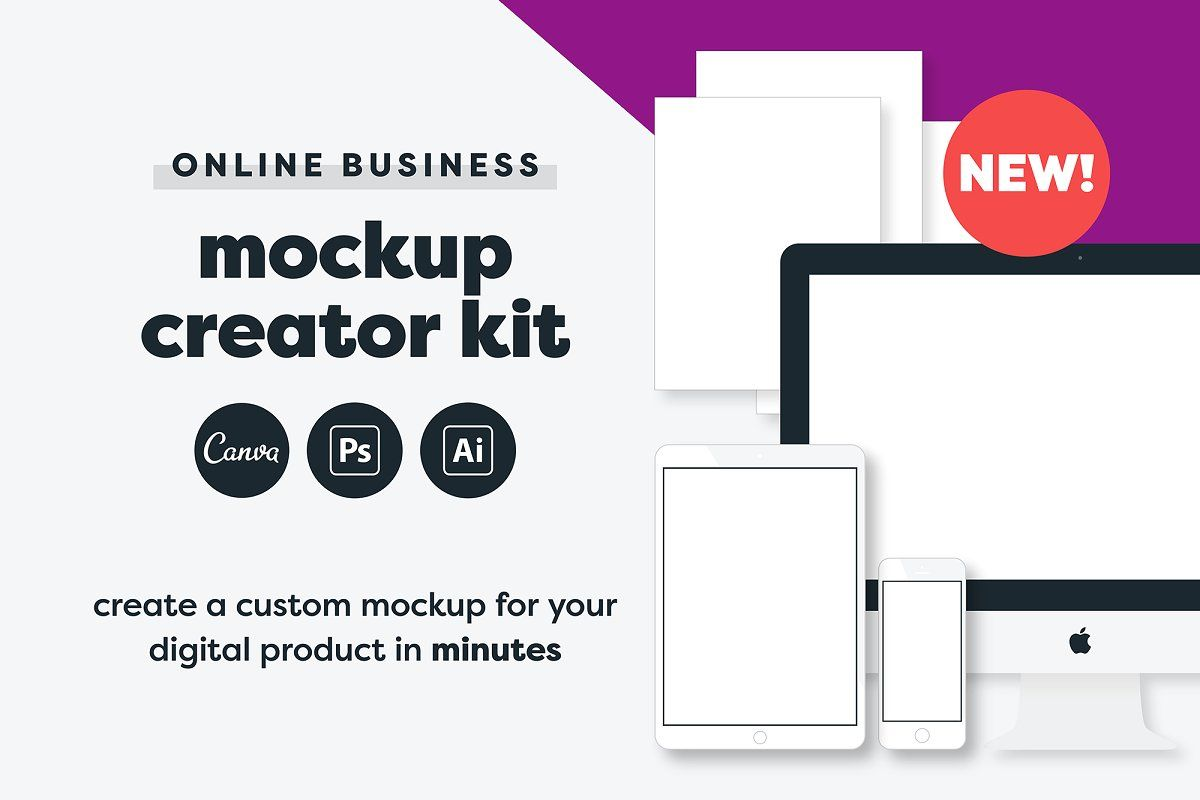 Digital product mockup generator