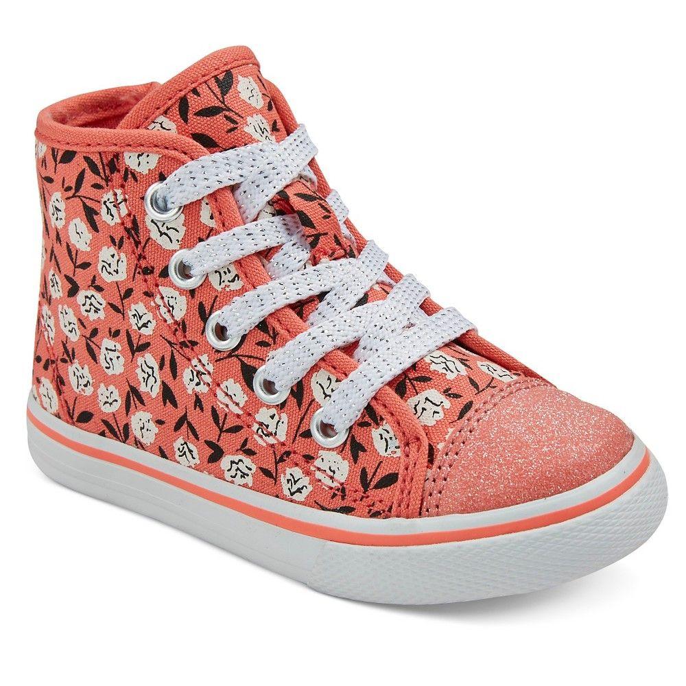 Jen Floral Canvas High Top Sneakers Cat