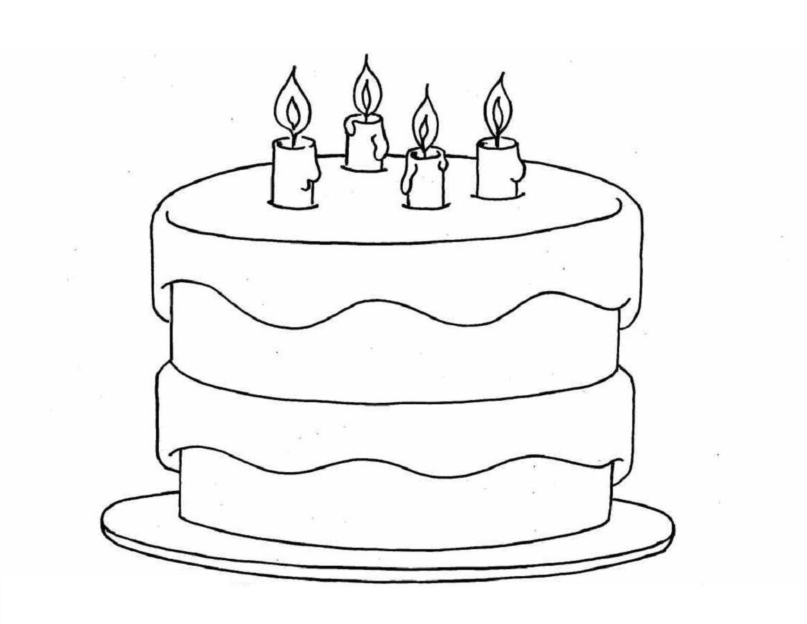 birthdaycolorpagesblank Birthday coloring pages