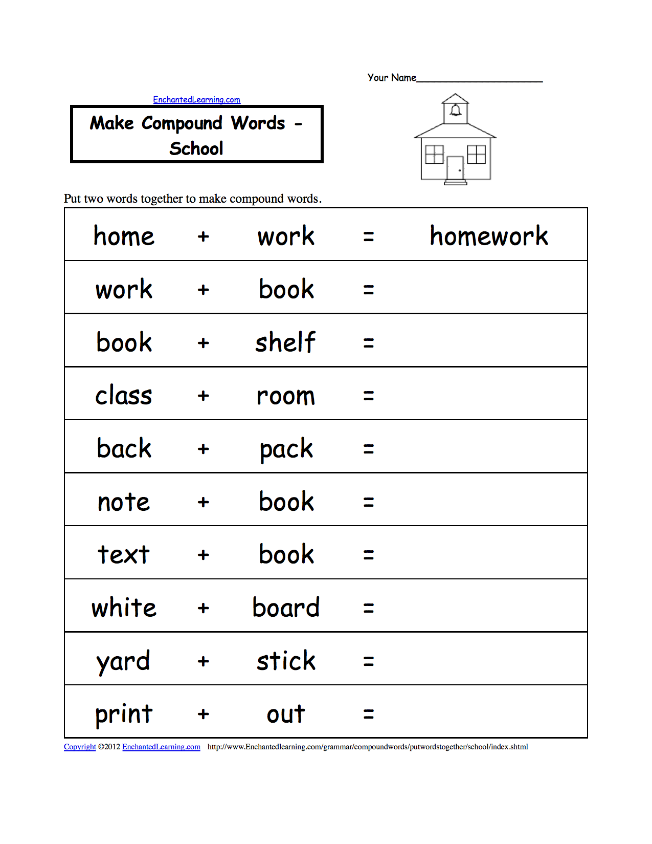 Worksheet Kindergarten Compound Words 1000 images about compound words contractions on pinterest