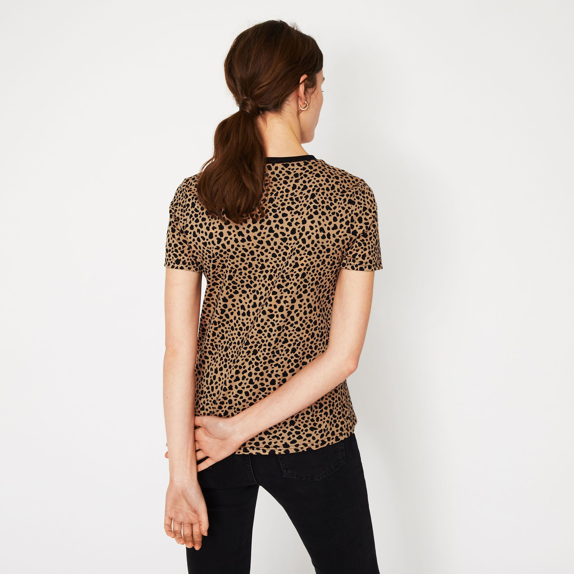 6de9240cbfed Warehouse, CHEETAH PRINT TEE Brown Print 3 Animal Print T Shirts, Spirit  Clothing,