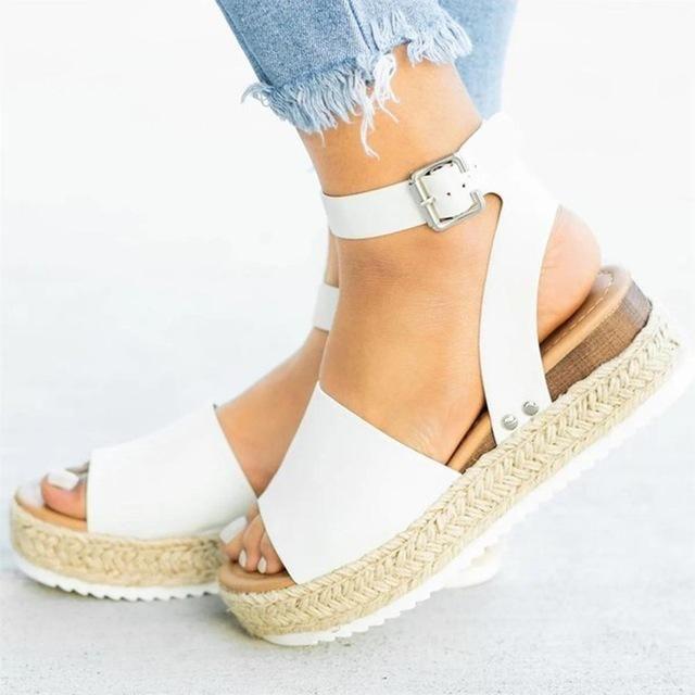 Flat Platform Pump High Heel Sandal | Women platform sandals, Womens  sandals wedges, Sandals heels