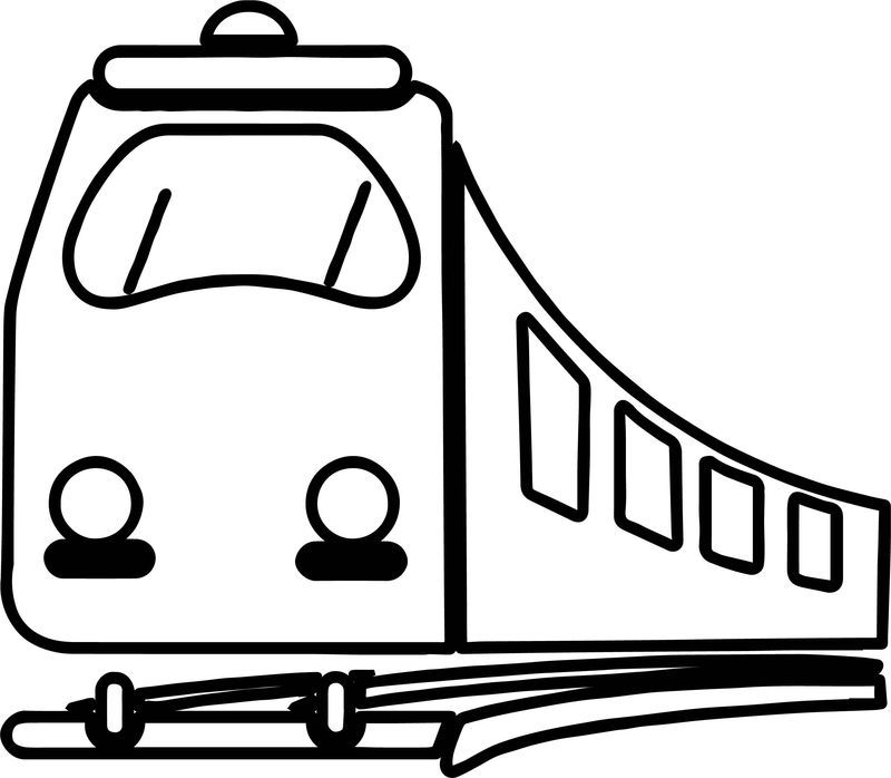 Coming Train Coloring Page
