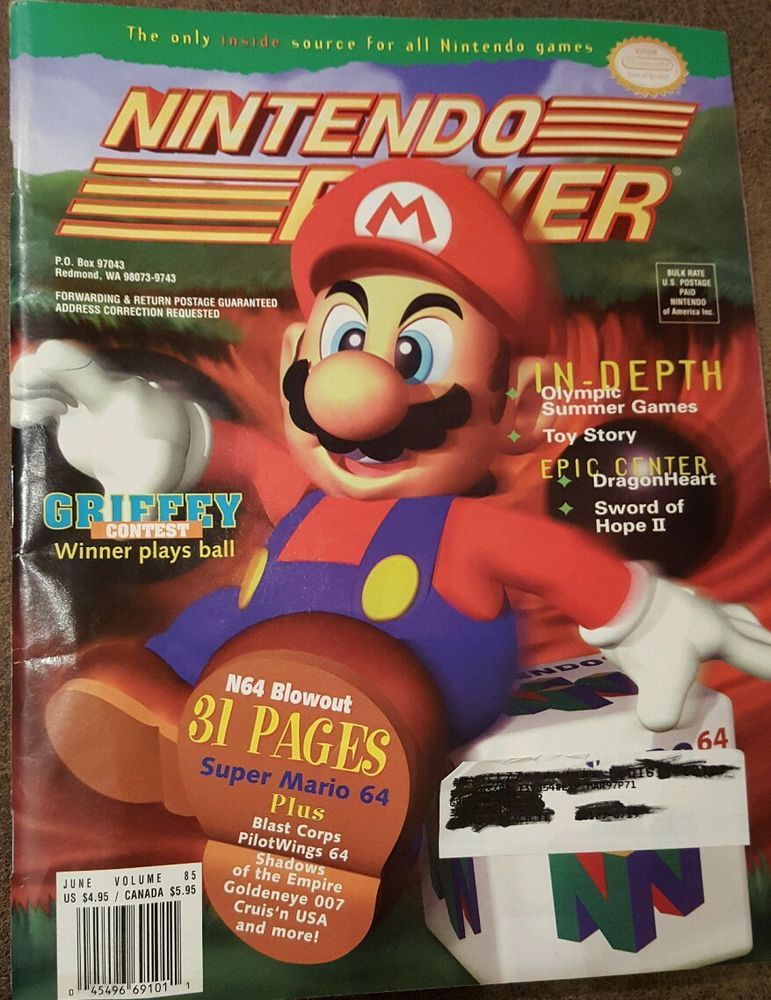 Nintendo Power Magazine Volume 85 June 1996 Super Mario 64