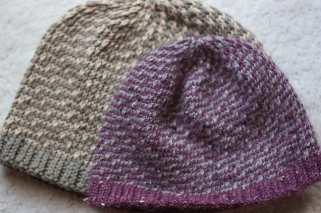 Free Knitting Patterns For Adults Hats : Two knit hats...one adult and one baby (free pattern) #knit #hat i made it!...