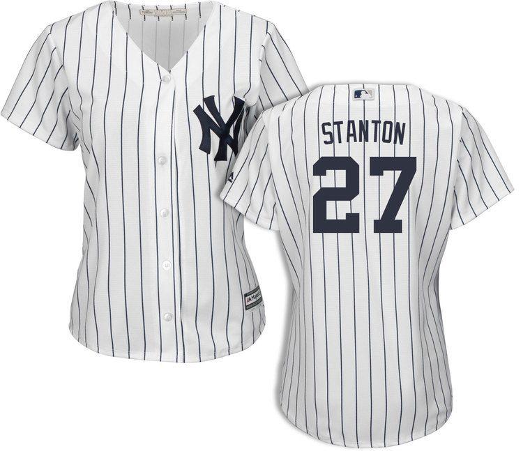 Women's New York Yankees Giancarlo Stanton Home Jersey in