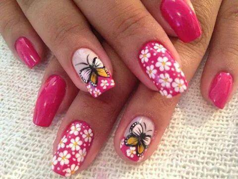spring  nail designs nail art acrylic nails