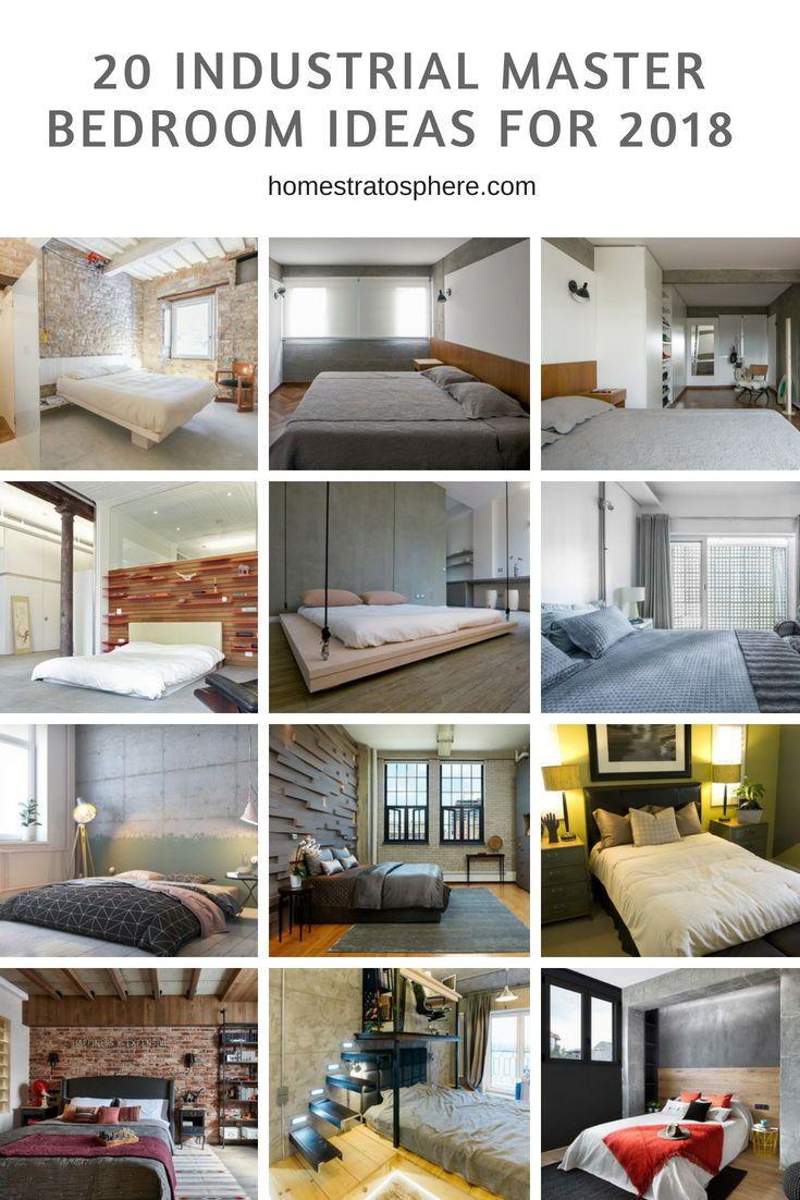 Master bedroom ideas   Industrial Master Bedroom Ideas for   furniture  Pinterest