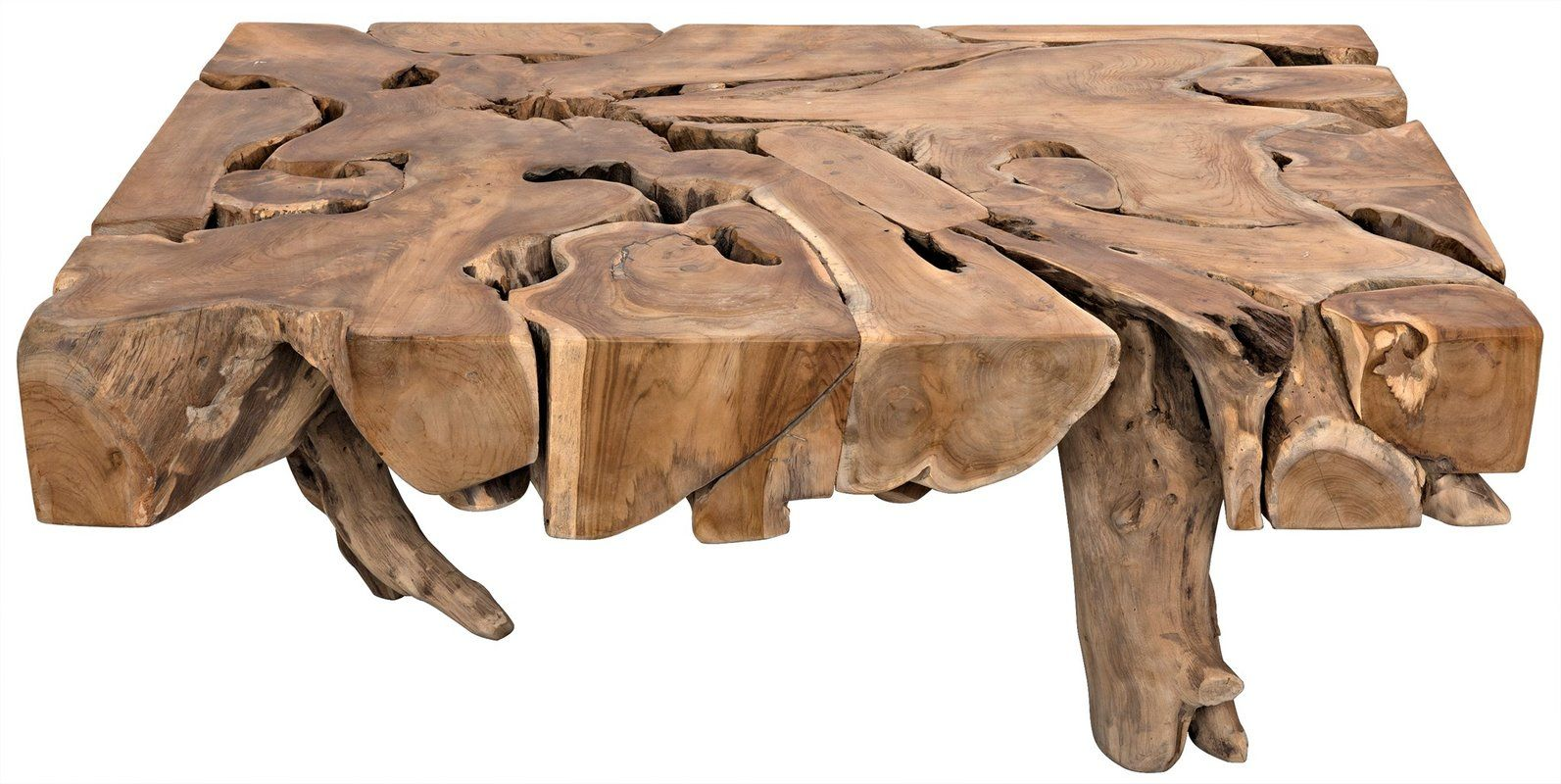 Teak Root Coffee Table | Stone coffee table, Coffee table ...