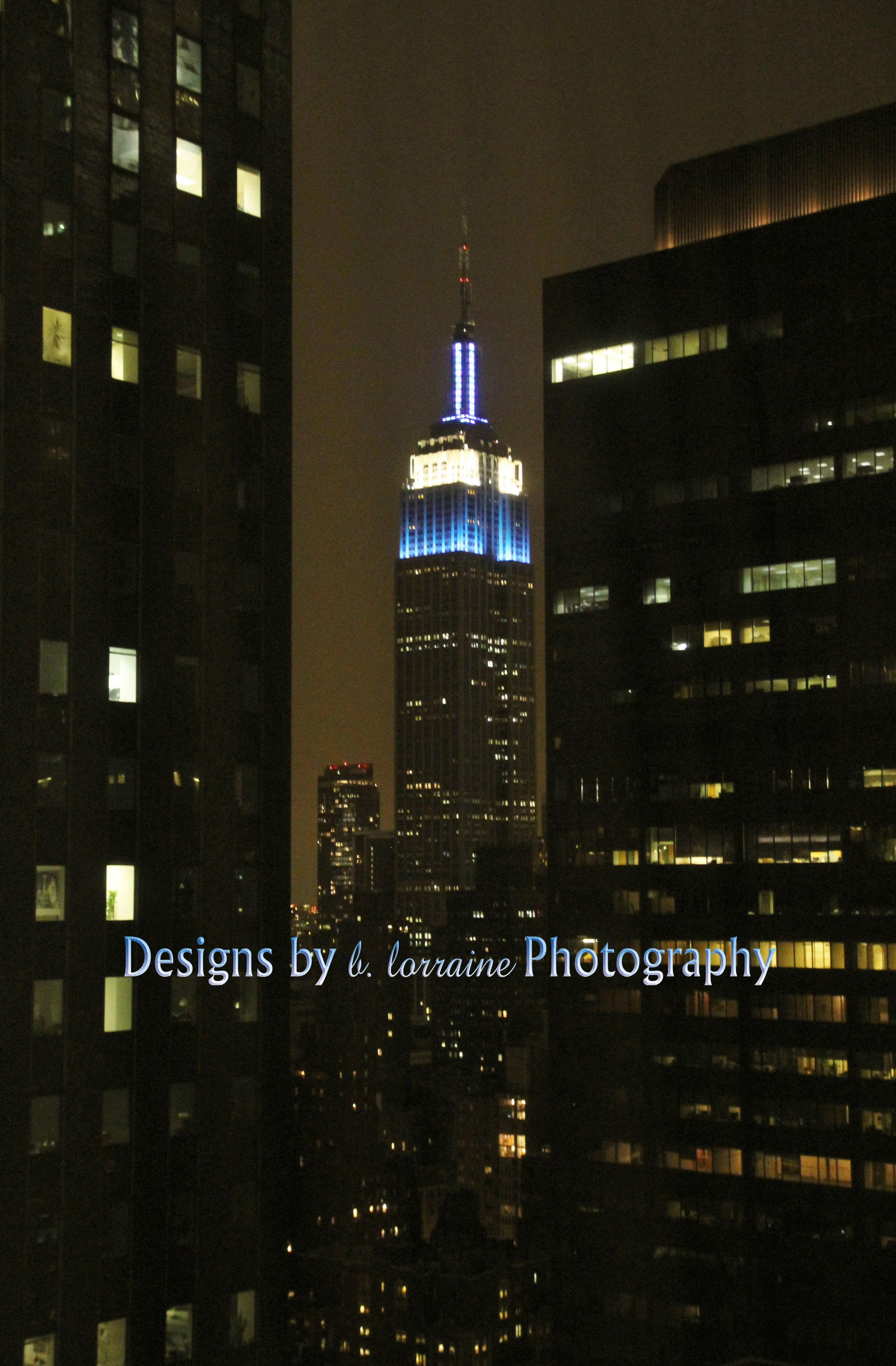 A Glow of Blue...Empire State Building, NYC