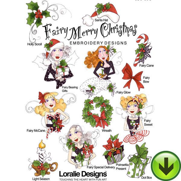 Fairy Merry Christmas Embroidery Design Collection ...