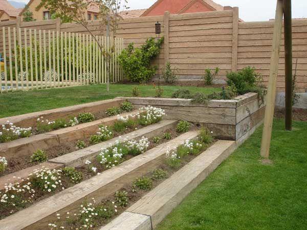 Idea para las escaleras de la entrada a la escuela jardines pinterest escaleras de la - Escaleras de jardin ...