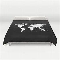 Image result for black and white world map duvet cover college image result for black and white world map duvet cover gumiabroncs Images