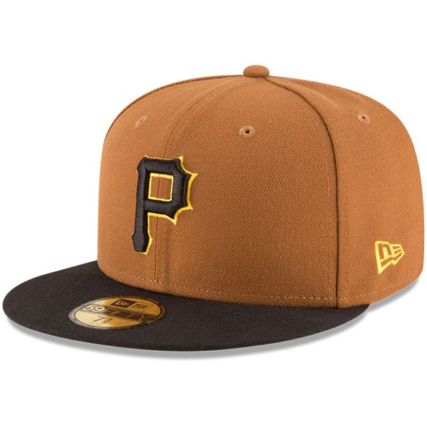 watch ebdf9 93882 Men s Pittsburgh Pirates New Era Gold Black Alternate Authentic Collection  On-Field 59FIFTY Fitted Hat,  34.99