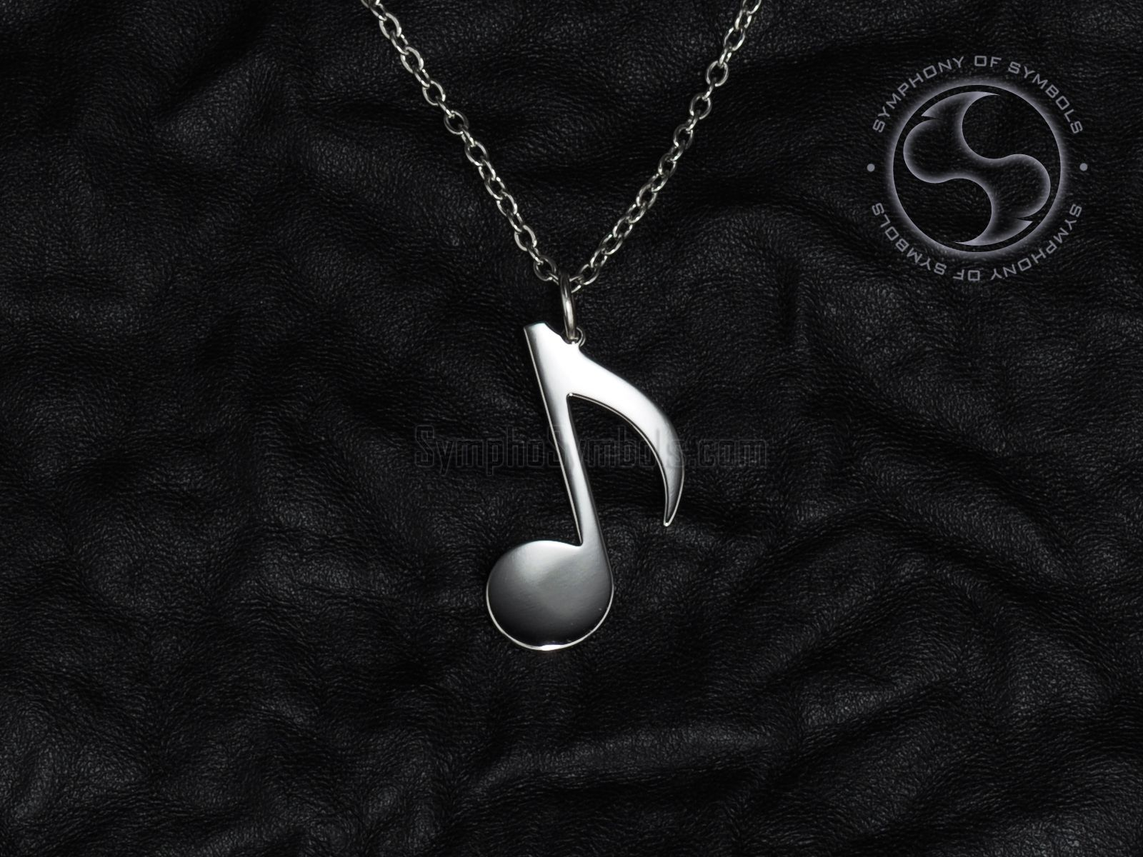 Note Symbol Pendant Stainless Steel Jewelry Music Notes Necklace
