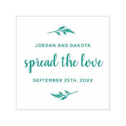Spread The Love Custom Names \ Date Wedding Self-inking Stamp - wedding door hanger template