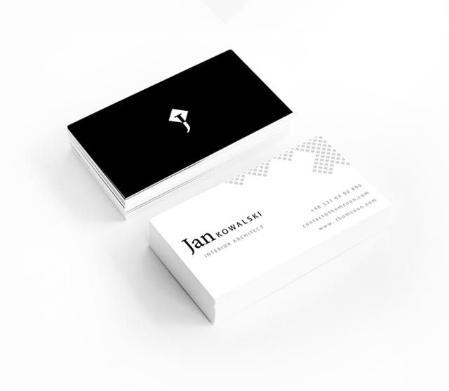 Stylish And Clean Architect Visit Card Created For Jan Kowalski