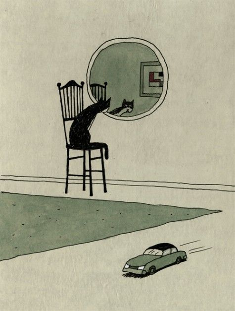 Untitled illustration by Italian artist illustrator Franco Matticchio (b.1957). via animalarium