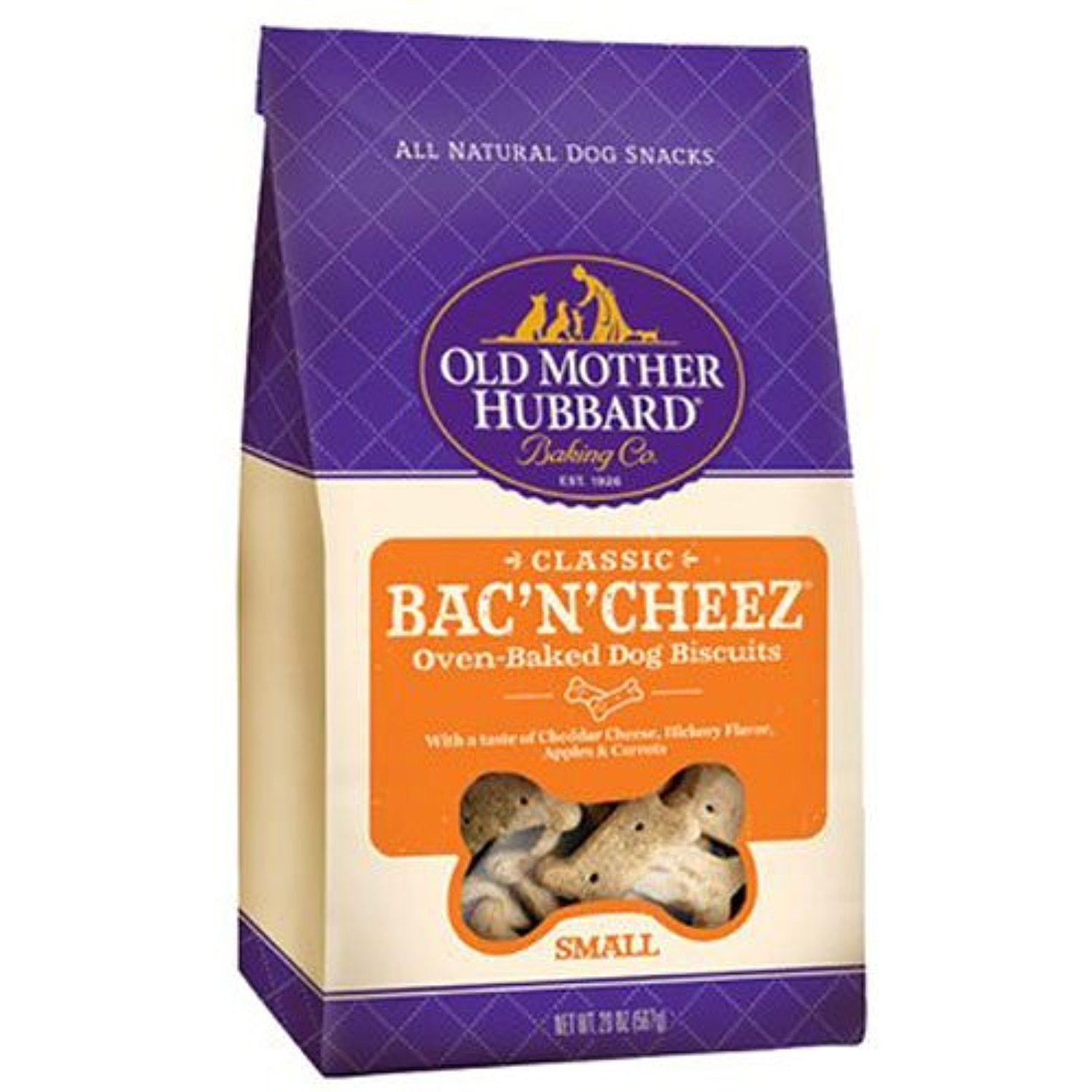 Old Mother Hubbard Classic Crunchy Natural Dog Treats Bac N Cheez