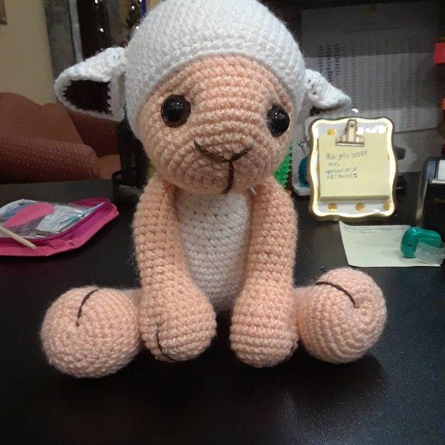 Pecora Amigurumi Tutorial - Sheep Crochet (Eng Sub) Oveja Crochet ... | 640x640